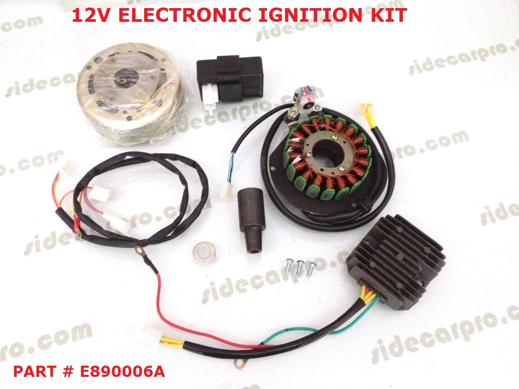 Cj750 Electronic Ignition Wiring Not Lossing Diagram Cj 750 12v Kit M1m M1s M1 Super Rh Sidecarpro Com Ford Chrysler
