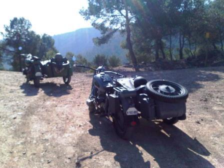 barcelona hillside mountain sidecar dnepr mt