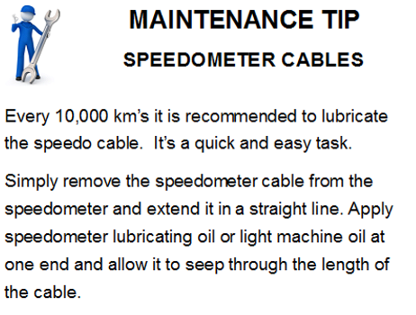 speedo speedometer cable maintenance tip