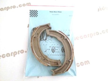 cj750 parts brake shoes packaging