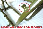sidecar bike framne link rod attachment