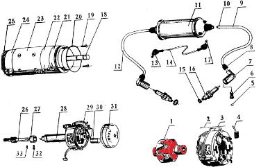 cj750 parts manual alternator generator rotor
