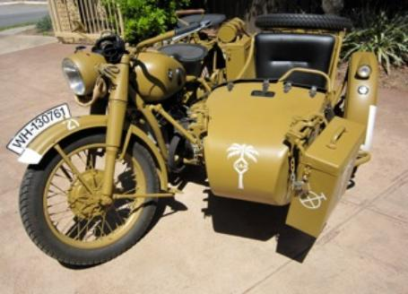 decals and tags ww2 sidecar australia